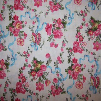 flowers ribbons fabric