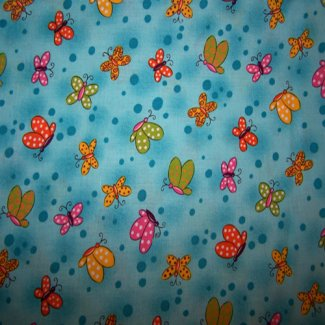 polka dot butterfly fabric
