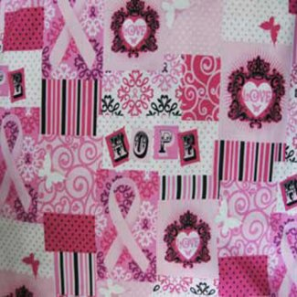 ribbons hope fabric
