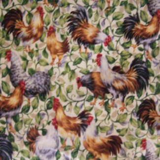 roosters chickens fabric