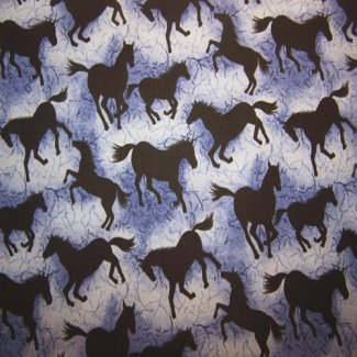 silhouette horse fabric