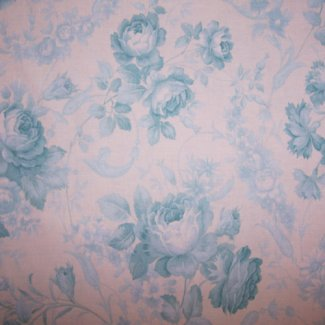 soft blue rose fabric
