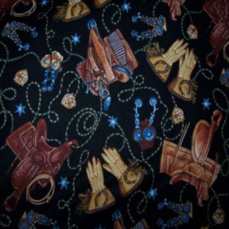 wild wild west black fabric