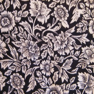 toile flower fabric