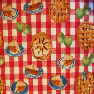apple pie red check fabric