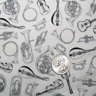 toile musical instruments fabric