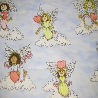 angels hearts fabric