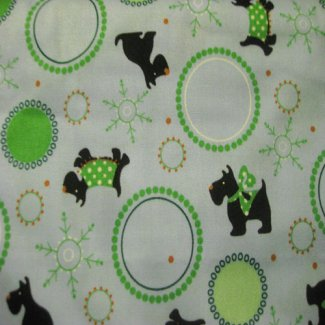 holiday scottie fabric