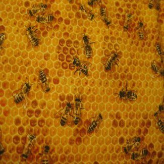 honey bees fabric
