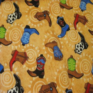 hop along pals cowboy boots south sea imports fabric