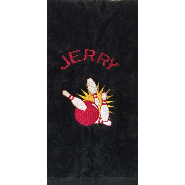 Personalized Embroidered Bowling Velour Towel