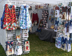 Our booth at Hillside Farms Craft Fair, Norco, CA.